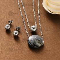Conjunto Collar Multi Capa de Acero Inoxidable -SSNEG126-12134