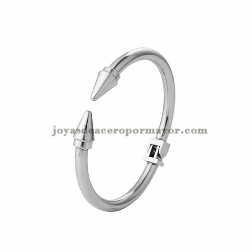 pulsera de clavo de plateado en acero inoxidable para mujer-SSBTG403756
