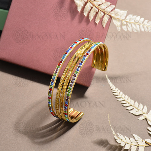 stainless steel bangle for women -SSBTG170-15627