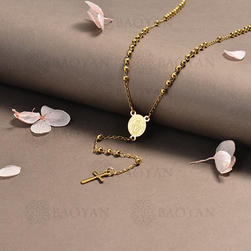 rosario en acero inoxidable -SSNEG95-16387