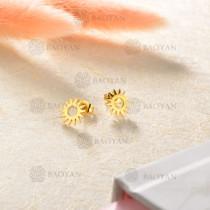 Aretes en Acero Inoxidable para Mujer -SSEGG143-8811