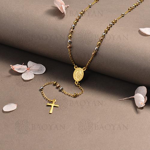 rosario en acero inoxidable -SSNEG95-16386
