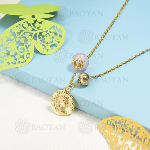 collar de charms en acero inoxidable -SSNEG142-16221