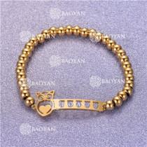 Pulsera con Bolitas Oro Dorado Para Mujer -SSBTG95-6299