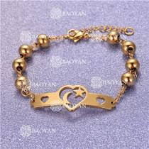 Pulsera con Bolitas Oro Dorado Para Mujer -SSBTG95-6196