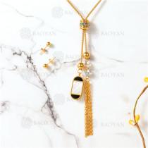 conjunto de dorado en acero inoxidable-SSNEG107-10093