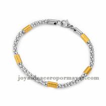 brazalete de estilo simple en acero plateado inoxidable para mujer -SSBTG953654