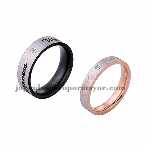 anillo de estilo simple moda en acero  inoxidable para amantes -SSRGG971719