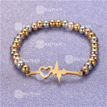 Pulsera con Bolitas Oro Dorado Para Mujer -SSBTG95-6244