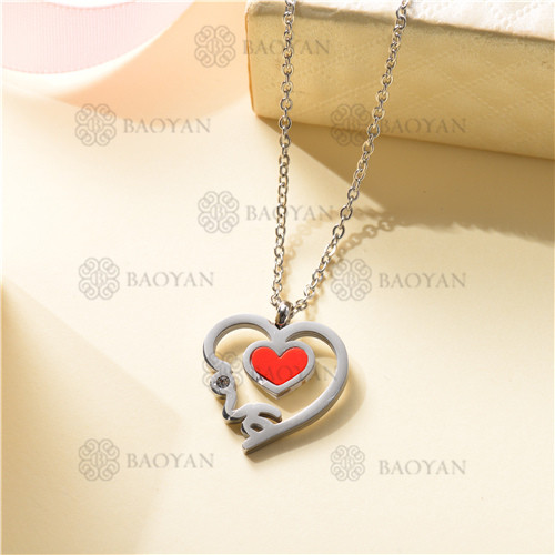 Collar Regalo para Novia en el Dia de Amor en Acero Inoxidable -SSNEG143-11329