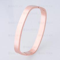 pulsera sencilla en acero de oro rosado -SSBTG1225232