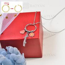 collar de charms DIY en acero inoxidable -SSNEG142-16245