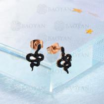 Aretes Corazon Cristal en Acero Inoxidable -SSEGG143-9573