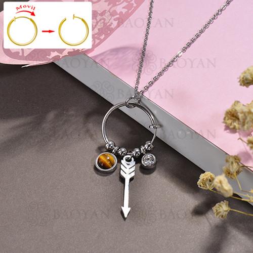 collar de DIY en acero inoxidable -SSNEG143-15514