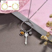 collar de DIY en acero inoxidable -SSNEG143-15514
