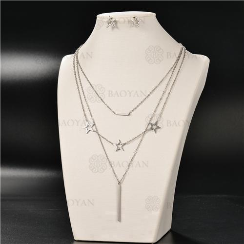 Collar Multicapa en AceroSSNEG126-4930