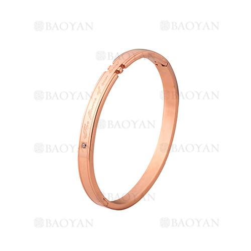 pulsera de moda de oro rosado en acero inoxidable-SSBTG1225010