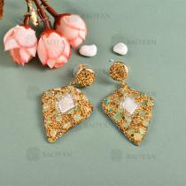 Aretes en Estilo Baroque con Cristal y Perla -BREGG162-8978