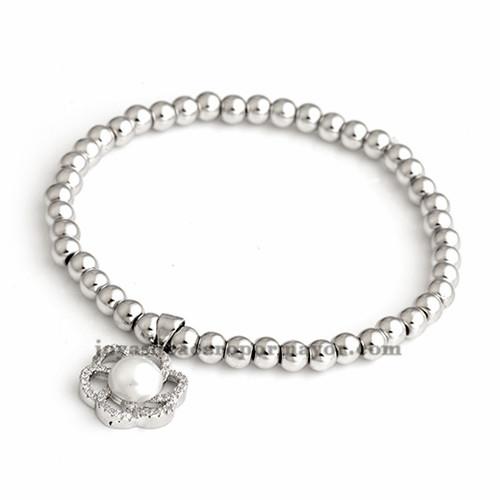 pulsera de perla en plateada  laminado BRBTG00052