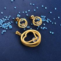 Joyas de Acero Inoxidable de Color Oro Dorado -SSSTG81-8413