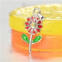 Dije de Flores en Acero Colores -SSPTG16-1695