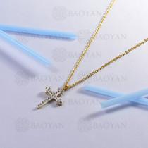 collar de acero inoxidable para mujer -SSNEG143-13101-G