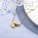 collares de acero inoxidable para mujer -SSNEG143-15371