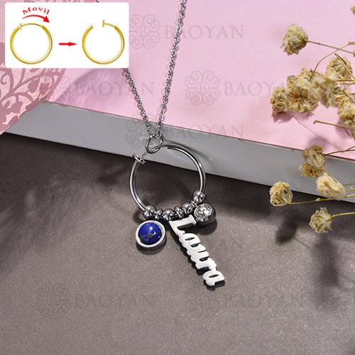 collar de DIY en acero inoxidable -SSNEG143-15513