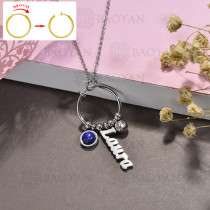 collar de DIY en acero inoxidable -SSNEG143-15513