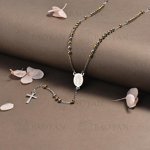 rosario en acero inoxidable -SSNEG95-16402