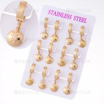 aretes con letra hope en acero de dorado para mujer-SSEGG385003