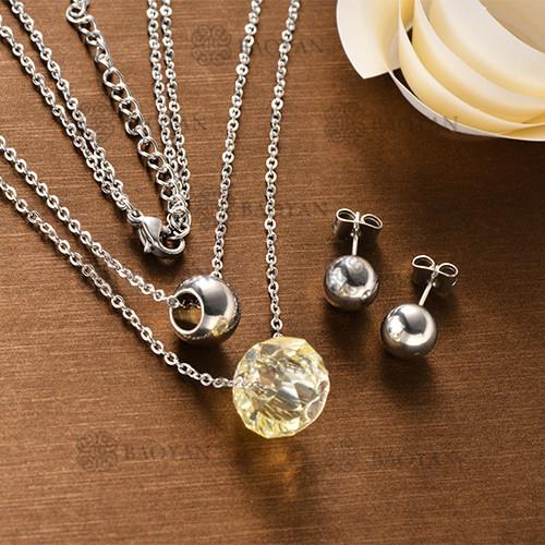 Conjunto Collar Multi Capa de Acero Inoxidable -SSNEG126-12129