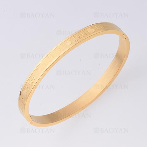 pulsera con corazon en acero inoxidable de dorado-SSBTG1225468