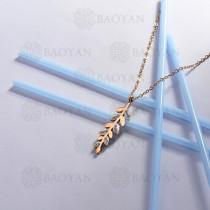 collar de acero inoxidable para mujer -SSNEG143-13096-R