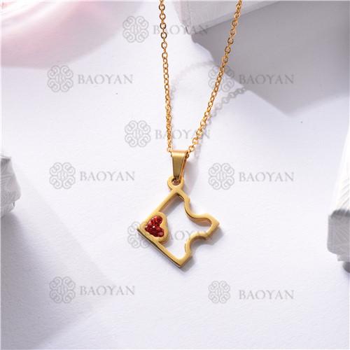 Collar Regalo para Novia en el Dia de Amor en Acero Inoxidable -SSNEG143-11335