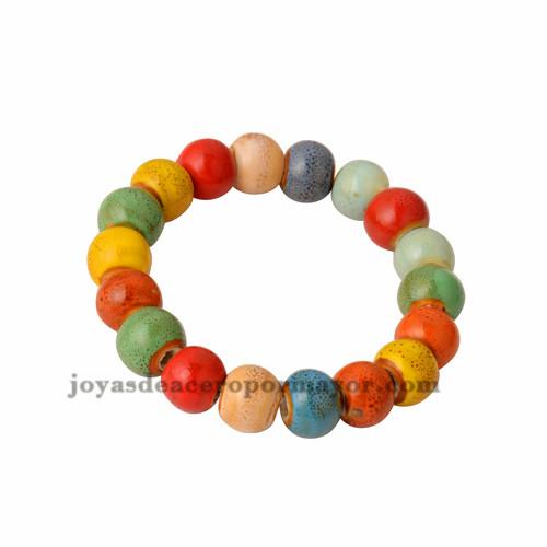 pulsera de bola especial color en ceramica -ACBTG18108