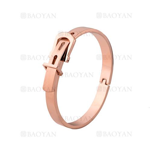 pulsera de moda de oro rosado en acero inoxidable-SSBTG1225012