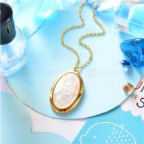 collar dorado en  acero inoxidable-SSNEG129-9643