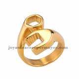 anillo de herramienta  llave dorado en acero  inoxidable -SSRGG971656