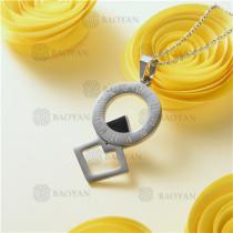 Collar de Dije en Acero Inoxidable -SSNEG143-10978