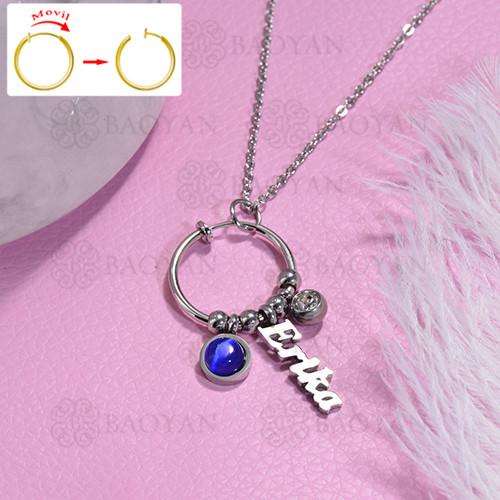 collar de DIY en acero inoxidable -SSNEG143-15478