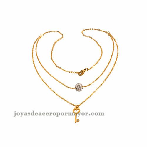 Collar en forma llave y cristal, venta onlineSSNEG48677
