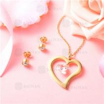 conjunto de joyas acero dorado inoxidable -SSNEG129-9700