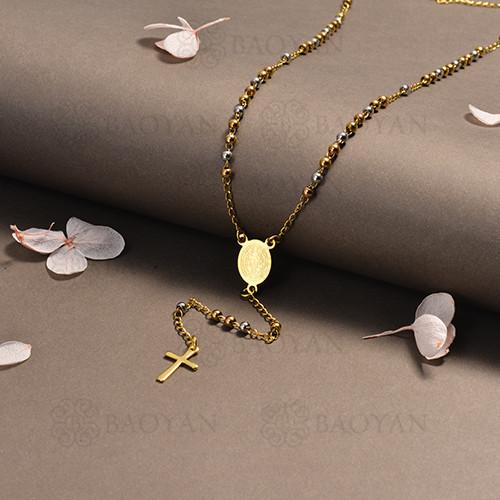 rosario en acero inoxidable -SSNEG95-16396