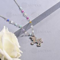Collar de multi color en acero inoxidable -SSNEG142-14680