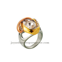 anillo de acero quirurgico de color dorados