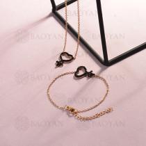 Conjunto de pulseras y Collar para Mujer en Acero Inoxidable -SSBNG143-14810-R