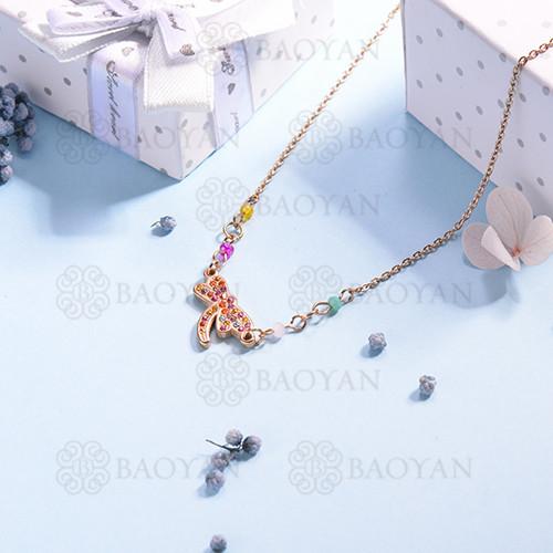 Collar de multi color en acero inoxidable -SSNEG142-14689