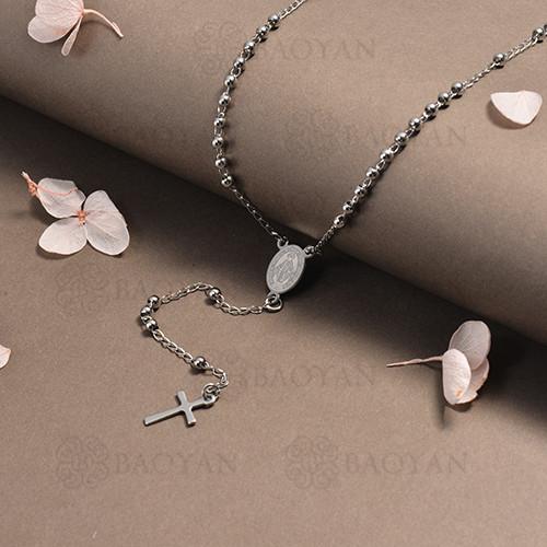 rosario en acero inoxidable -SSNEG95-16385
