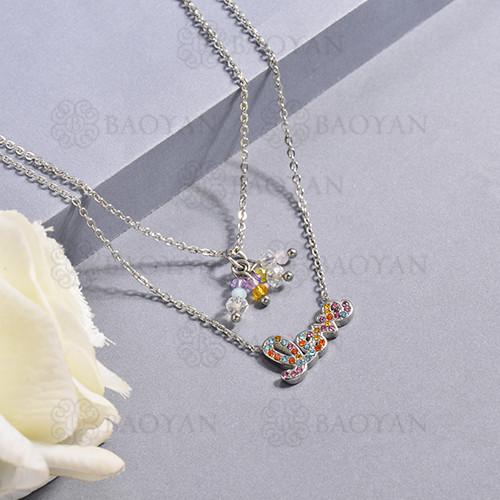 Collar de multi color en acero inoxidable -SSNEG142-14666